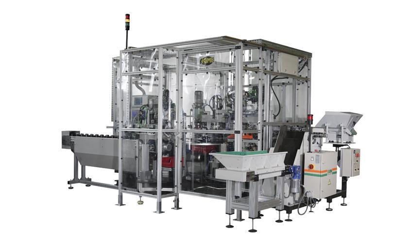 用于球窝关节部件润滑和组件的自动机器